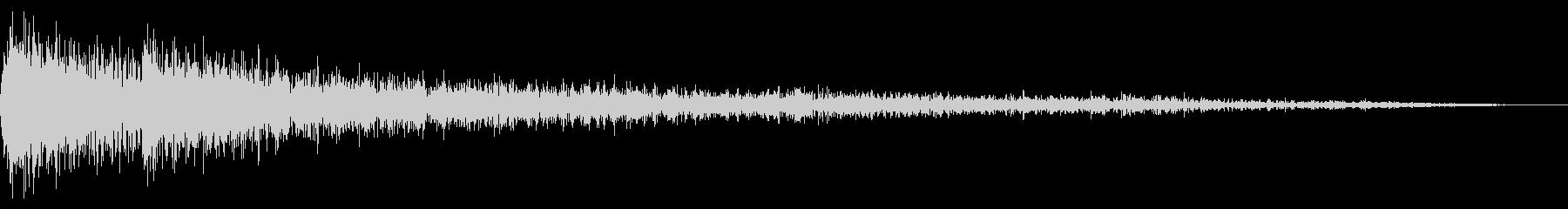 ガーンガーン ミステリアスなピアノの未再生の波形