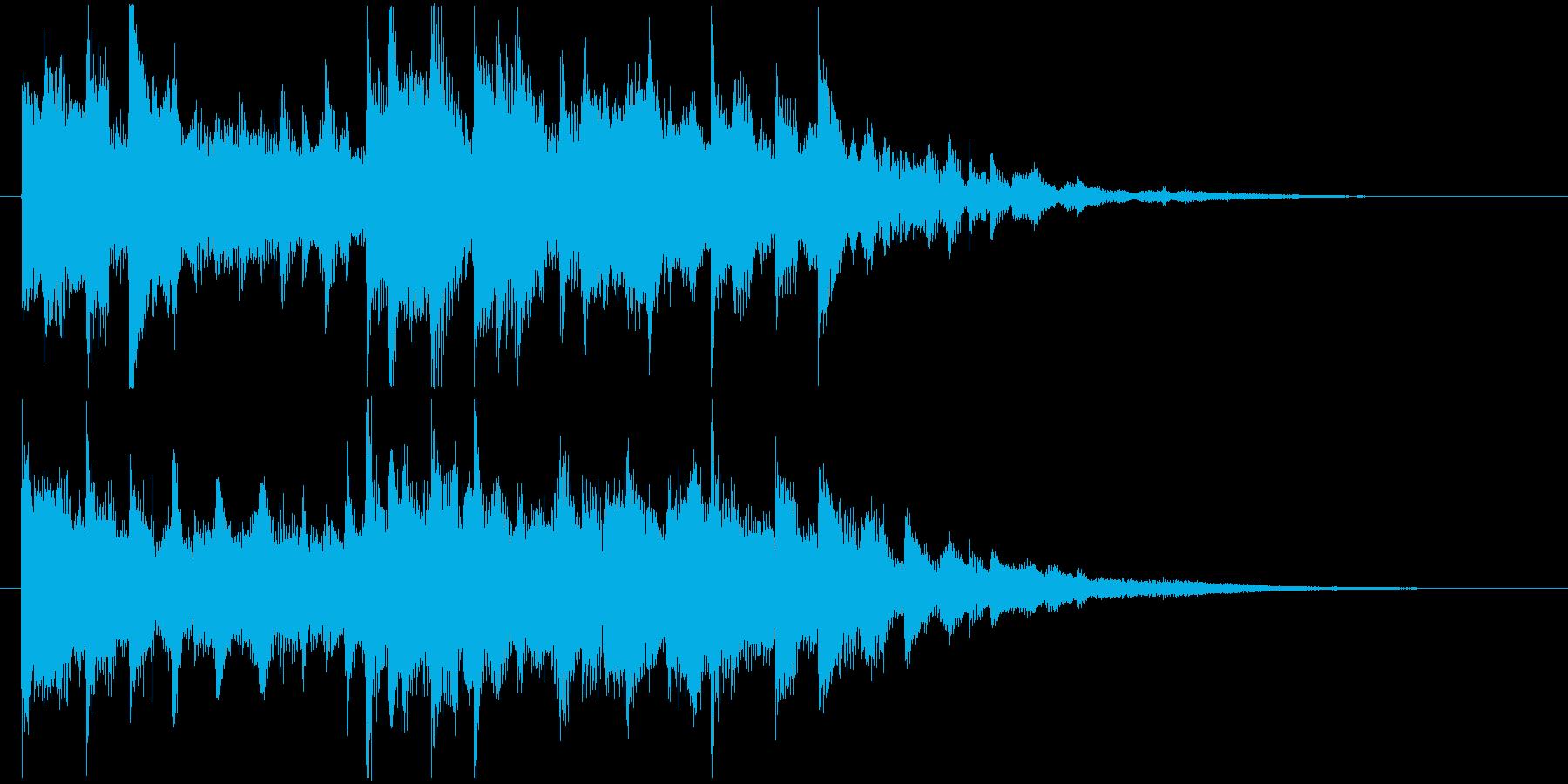 デジタル系未来的映像オープニングロゴの再生済みの波形