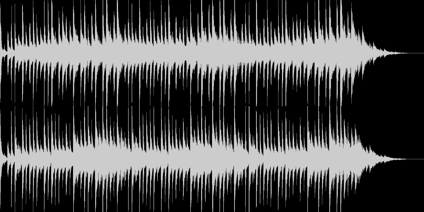 キラキラしたハウステイストのBGMの未再生の波形