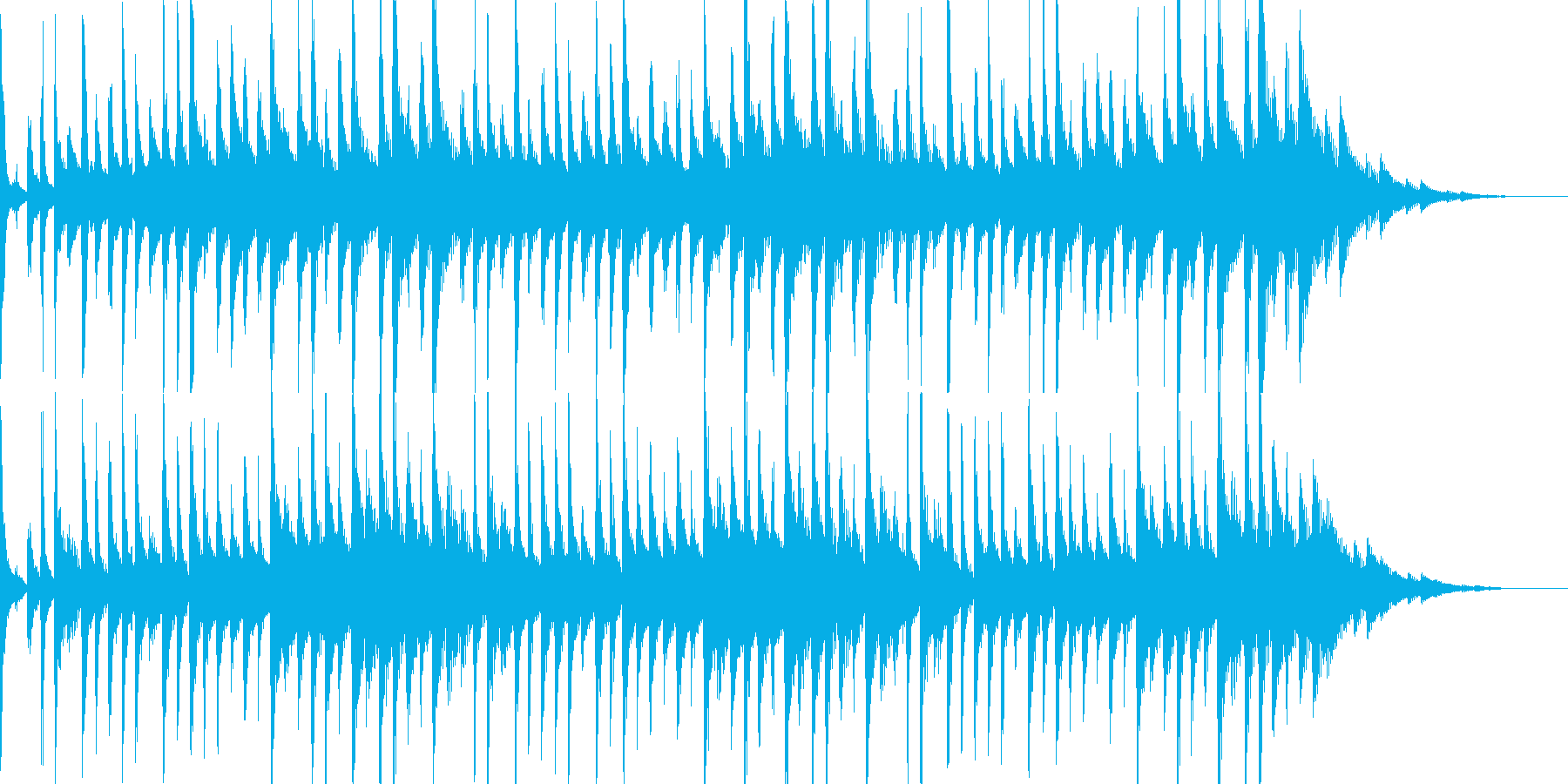 キラキラしたハウステイストのBGMの再生済みの波形