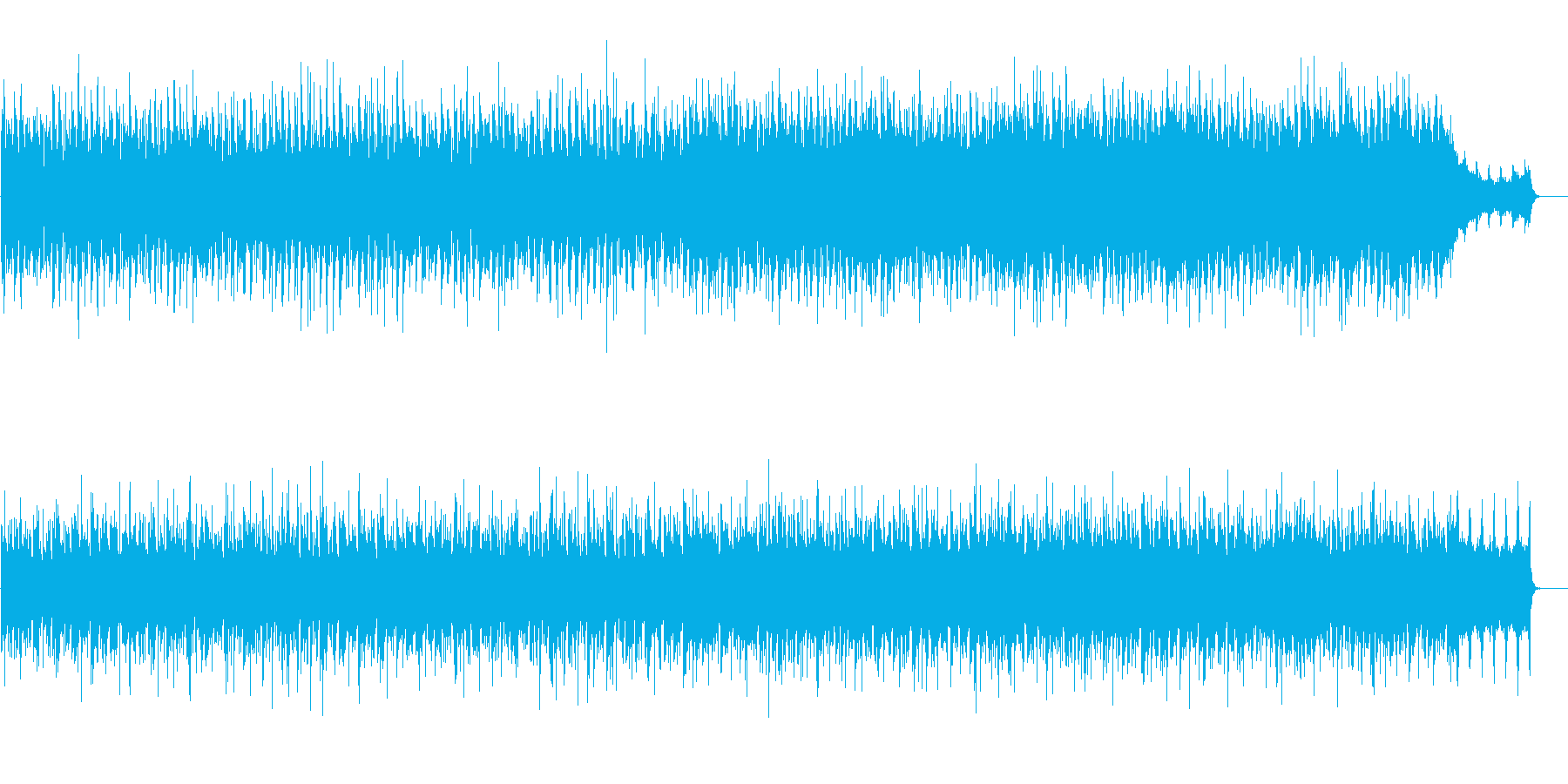ファンタジーホビットの世界のイメージの再生済みの波形