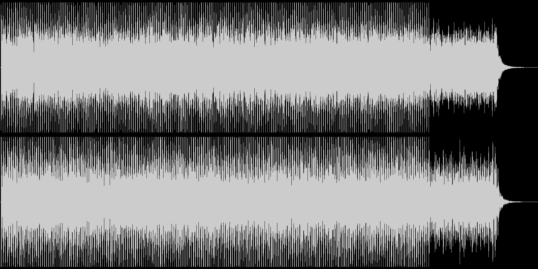 映像向けテクノ系BGMの未再生の波形