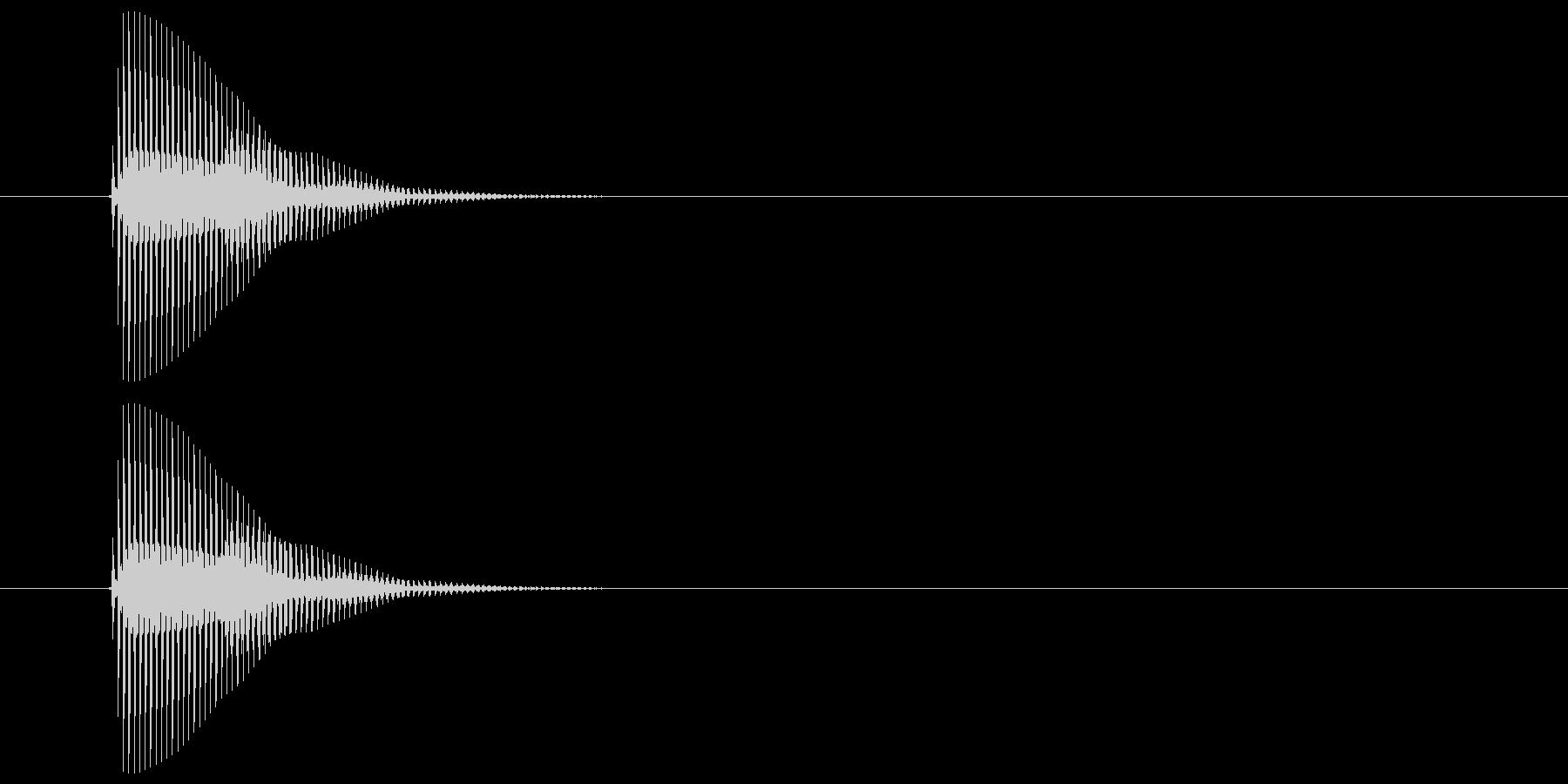 ピッ(カーソル、操作音) 04の未再生の波形