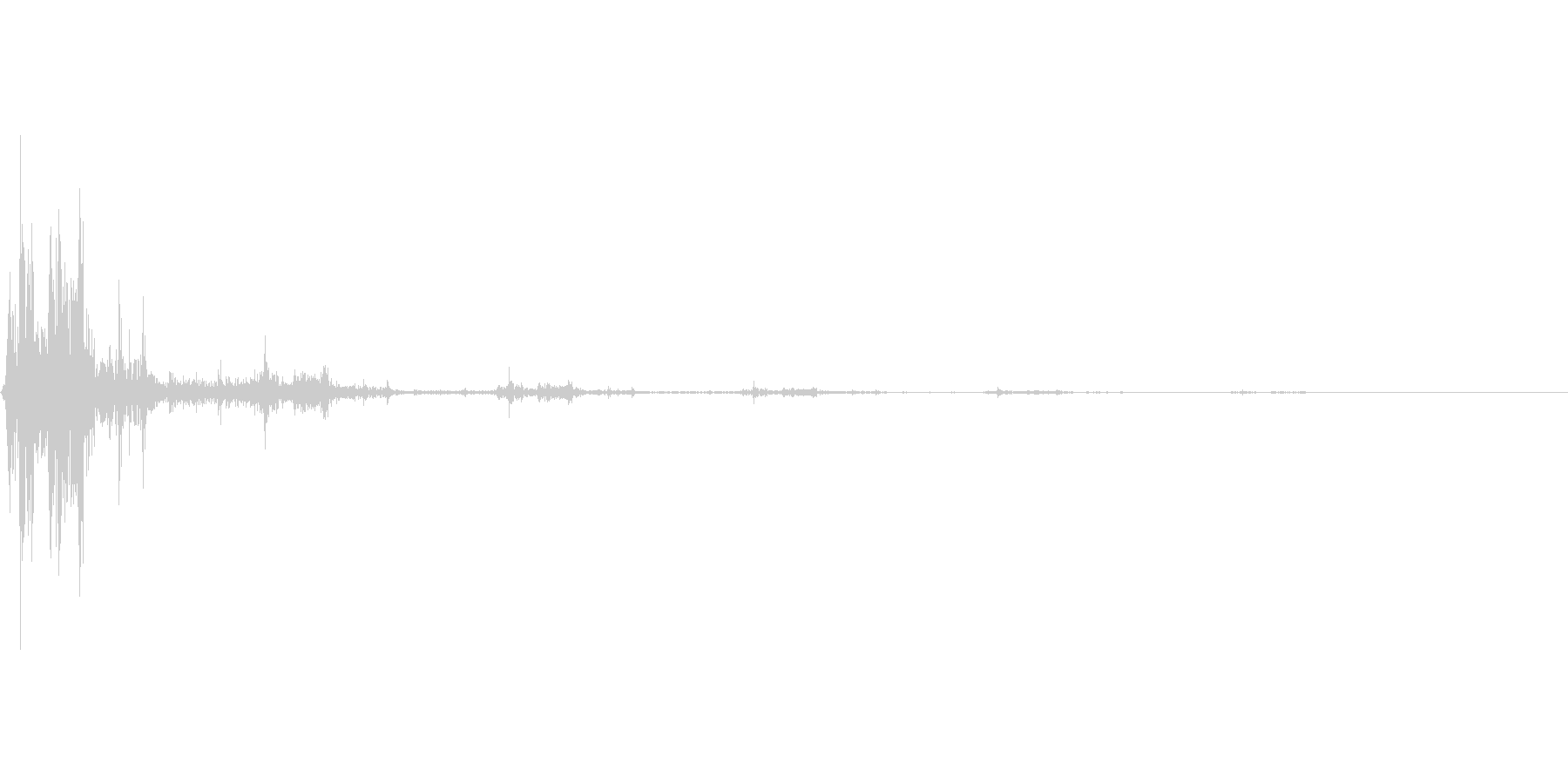 パタッ(選択音)の未再生の波形