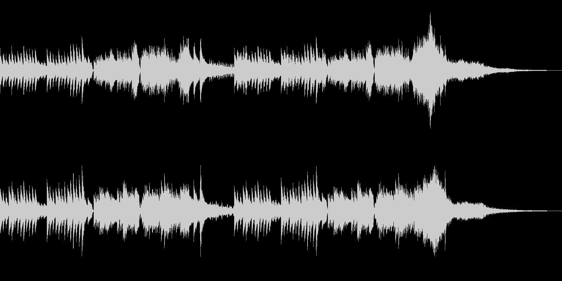 CM 和風 ピアノとフルート 映像などにの未再生の波形