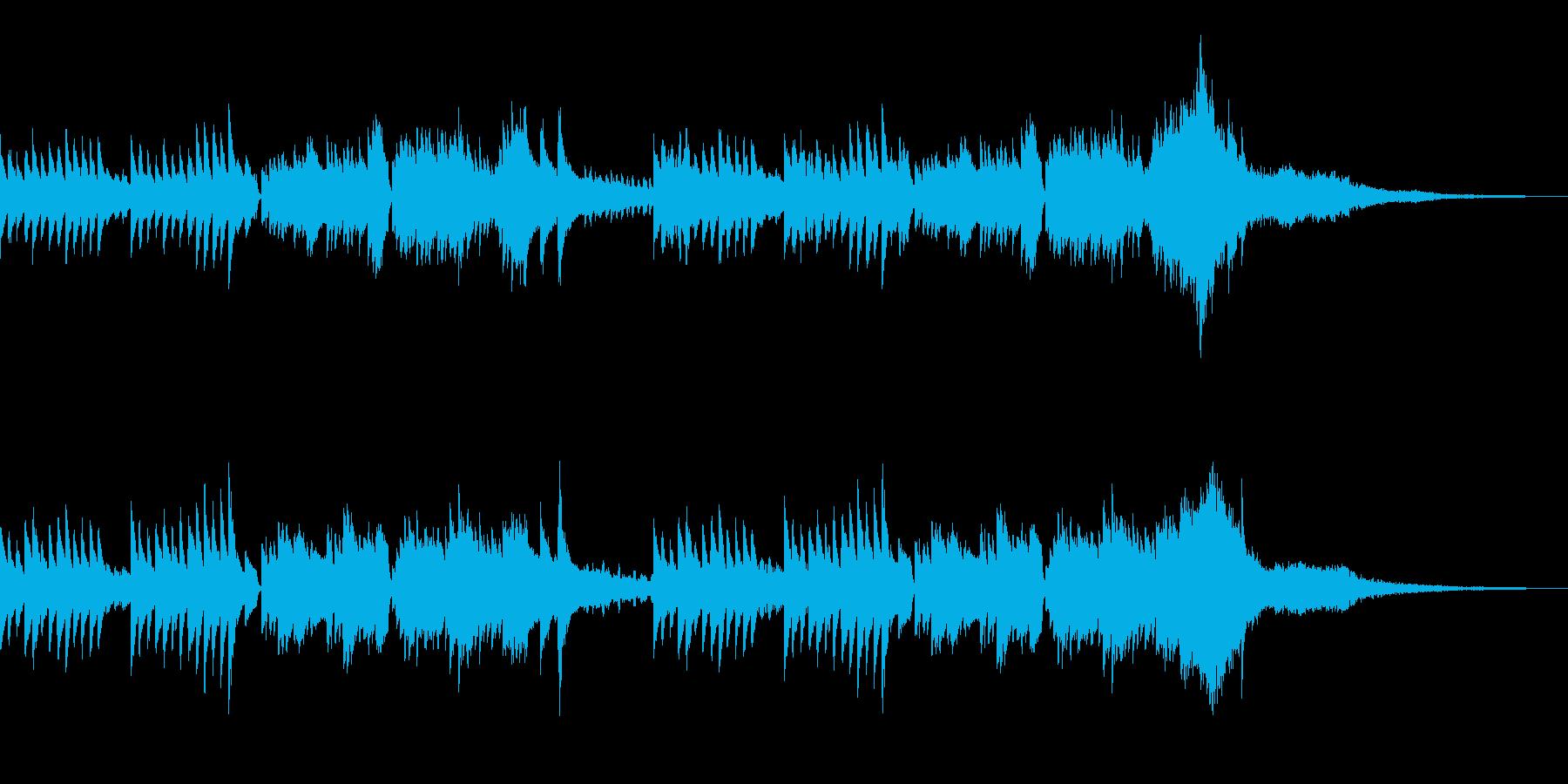 CM 和風 ピアノとフルート 映像などにの再生済みの波形