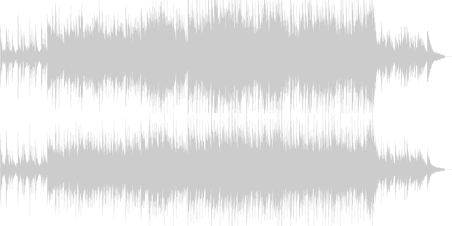 感動的・バラード・ピアノ・イベント・映像の未再生の波形