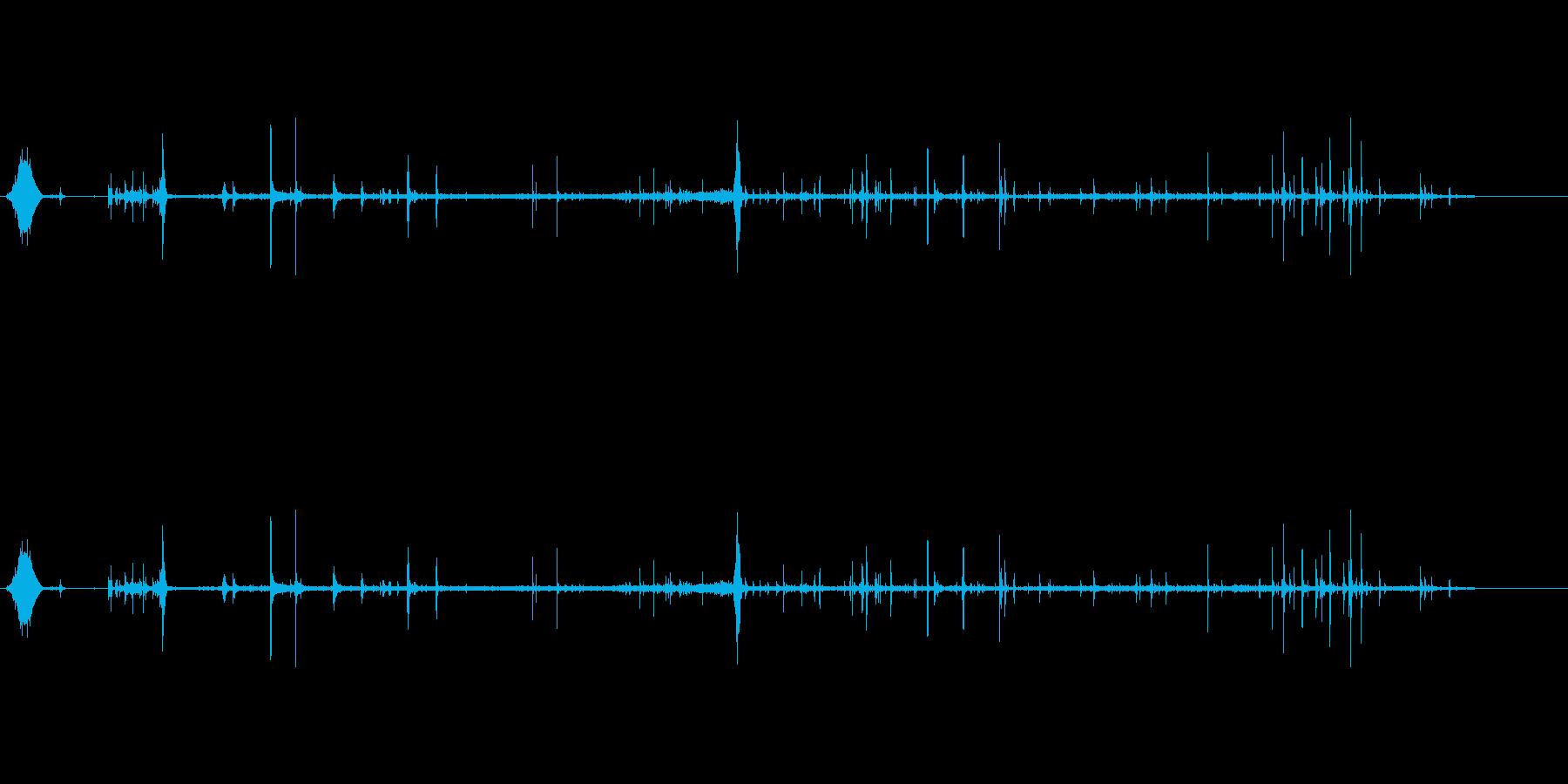 炭酸水を飲む音の再生済みの波形