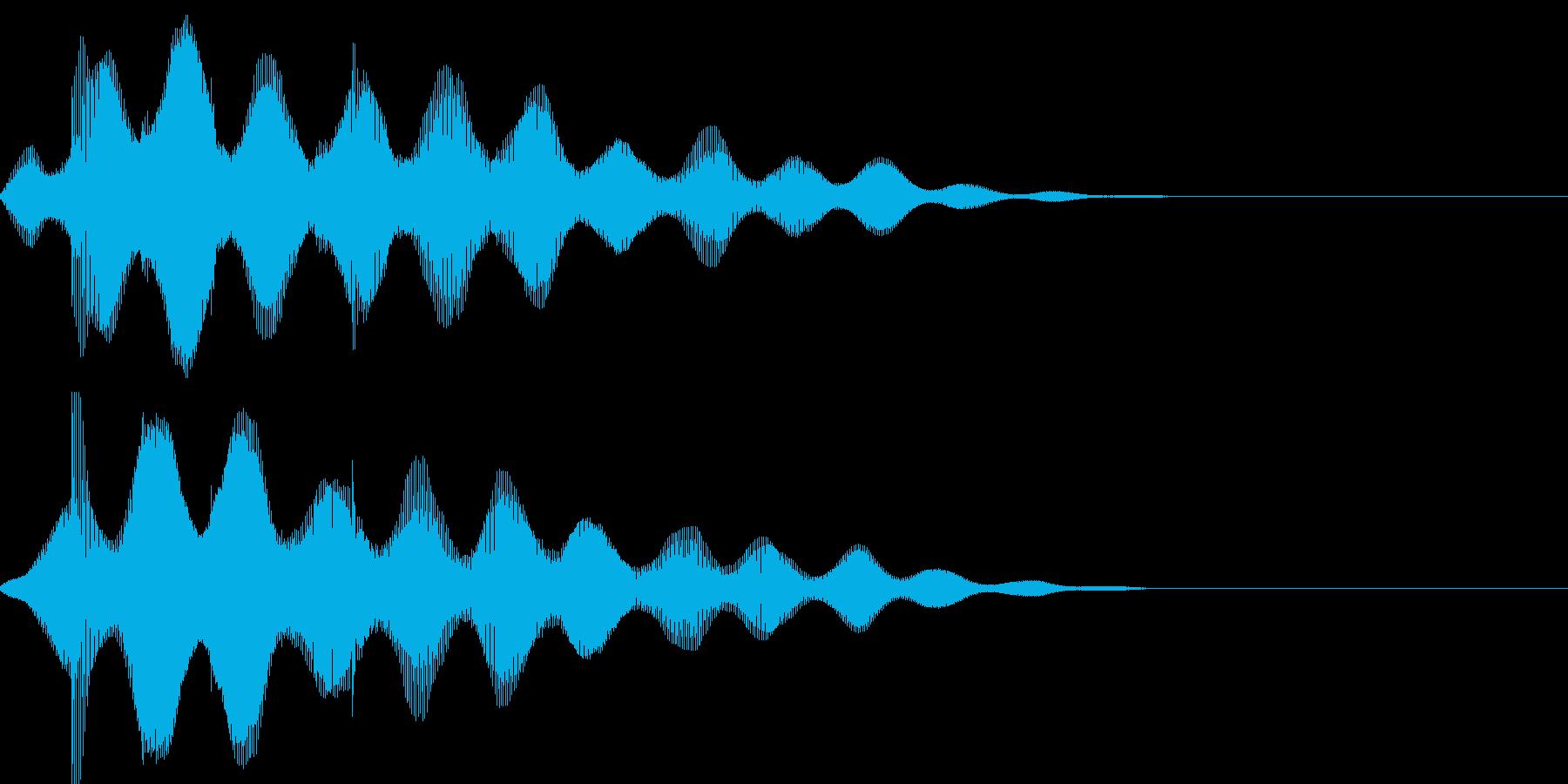 サウンドロゴ49_シンセの再生済みの波形