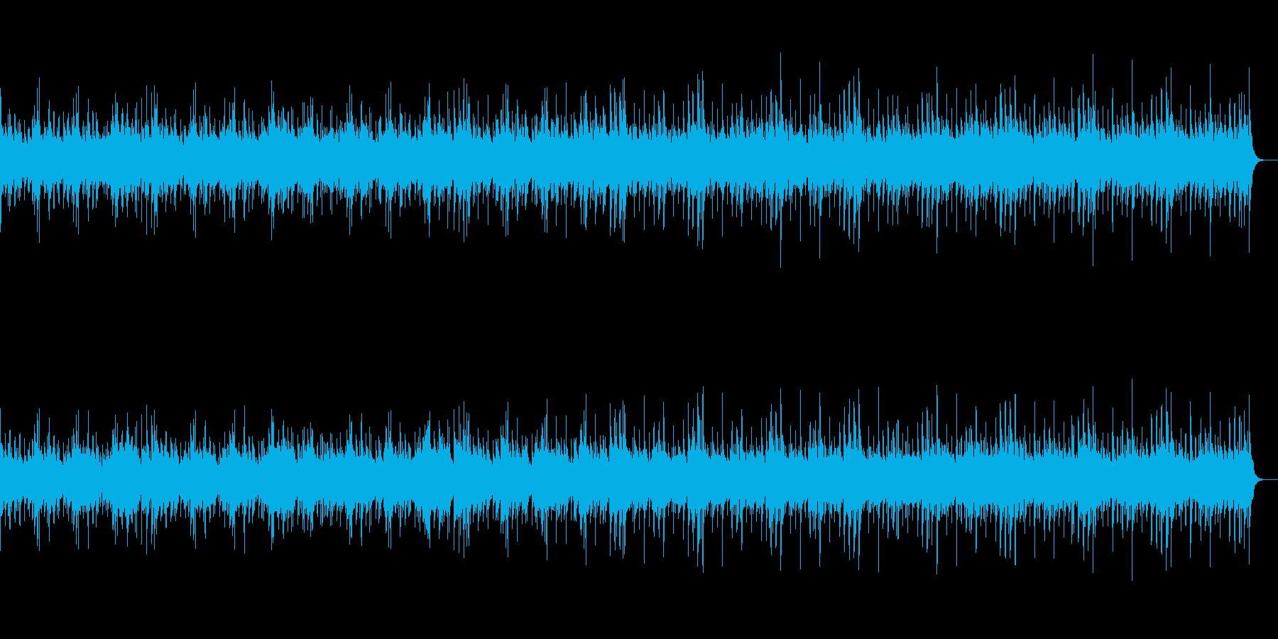 三味線と和太鼓とストリングスの和風な曲の再生済みの波形
