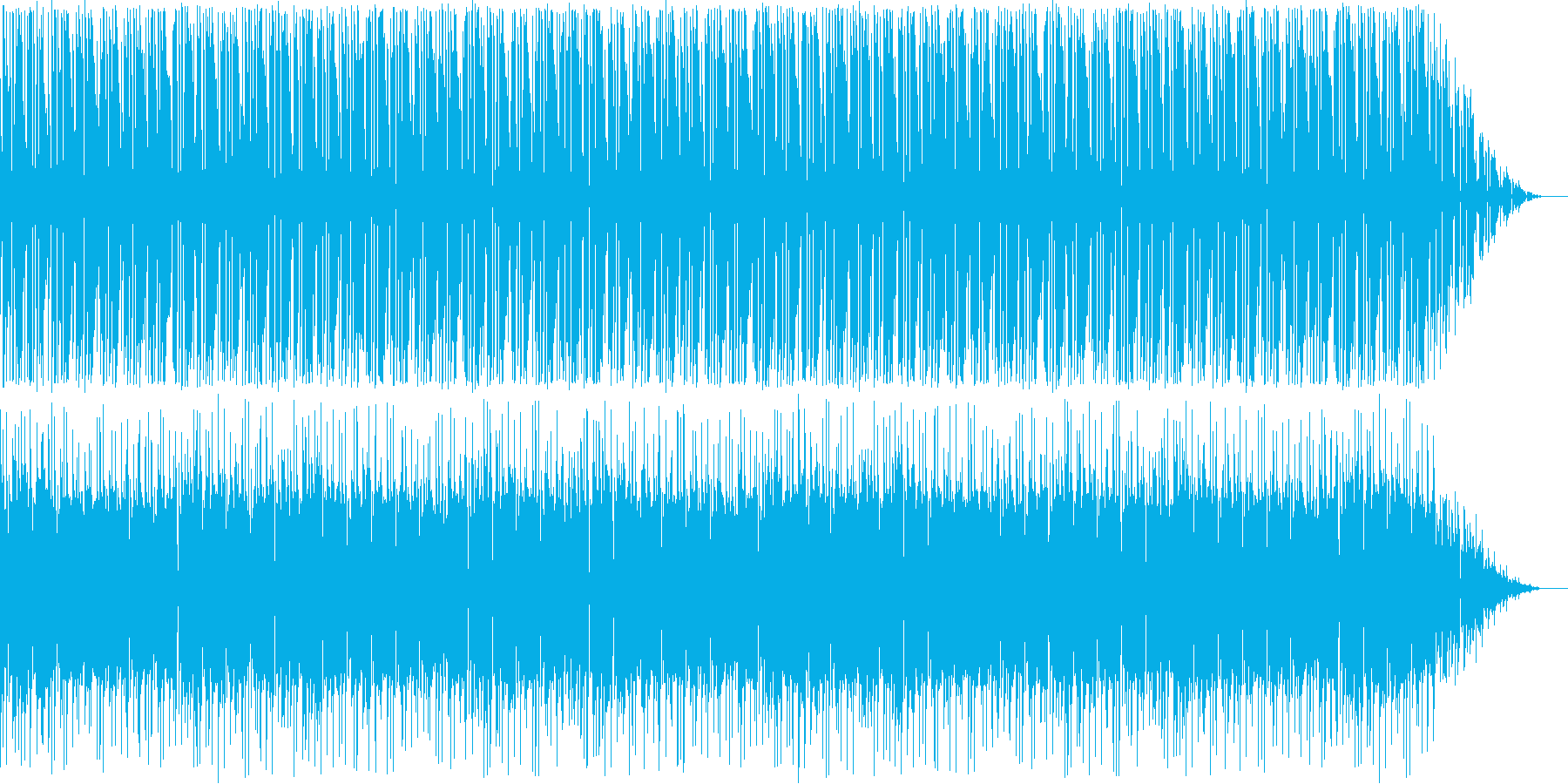ほんわかなブルースの再生済みの波形