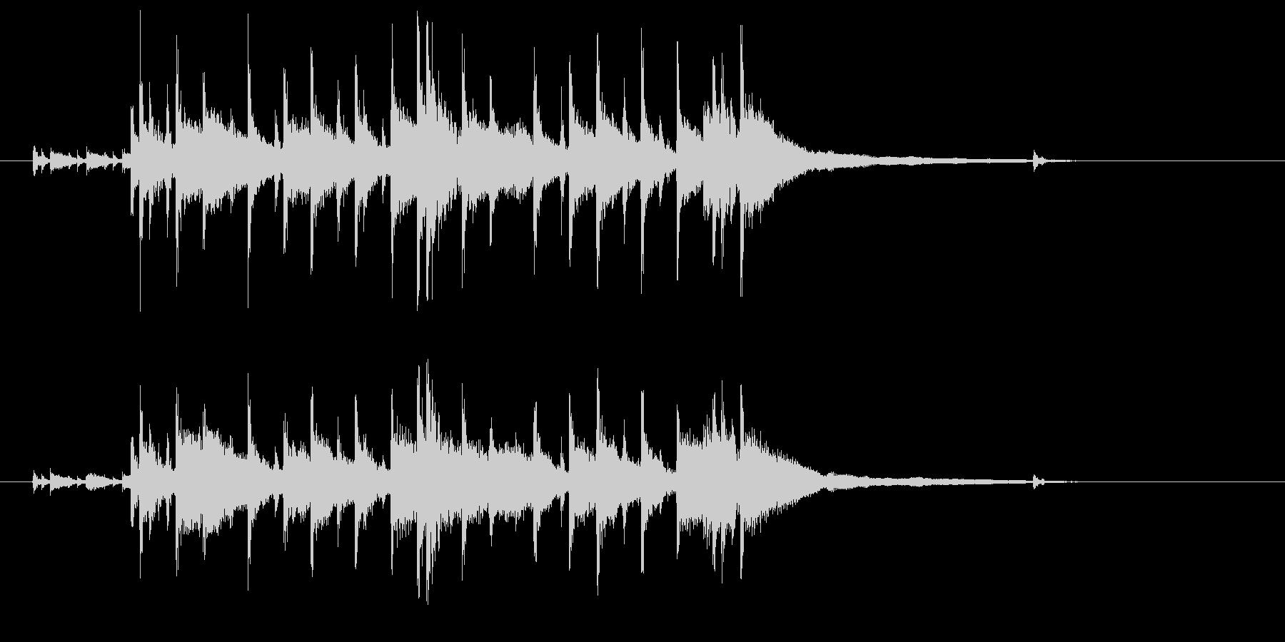 ドラムが印象的なジングルの未再生の波形