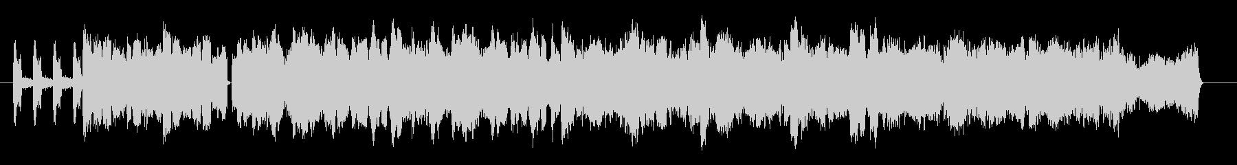複雑なビートが印象的なテクノミュージックの未再生の波形