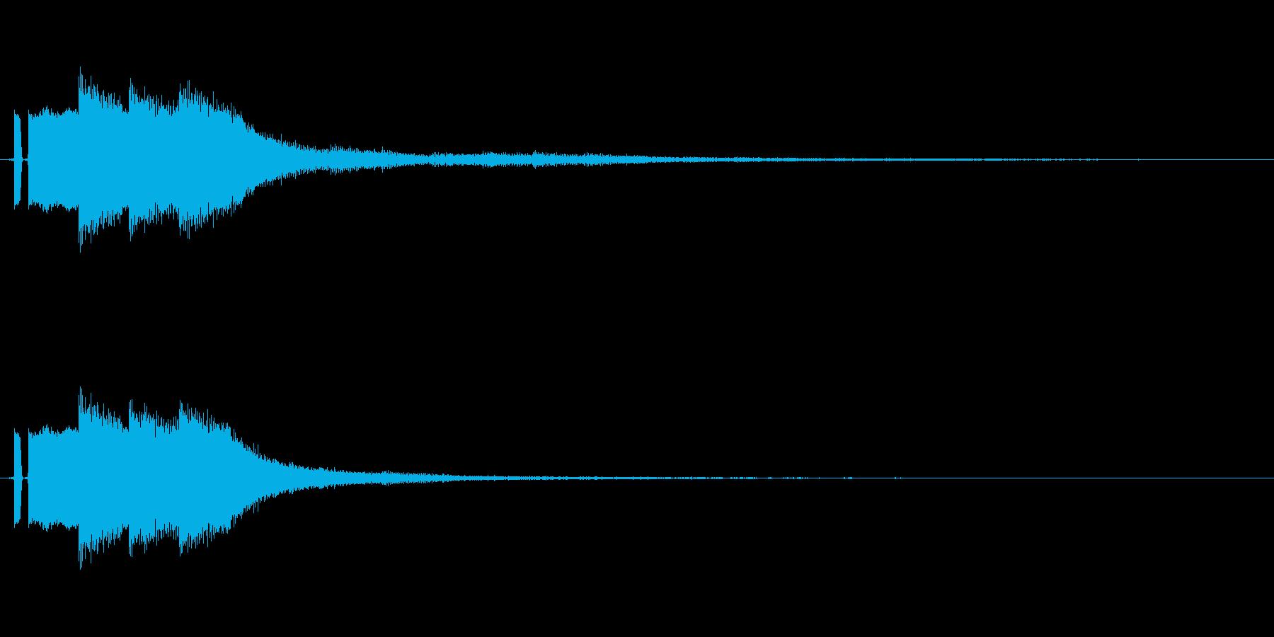 きらきらーん(きらめいてる感じSE)の再生済みの波形