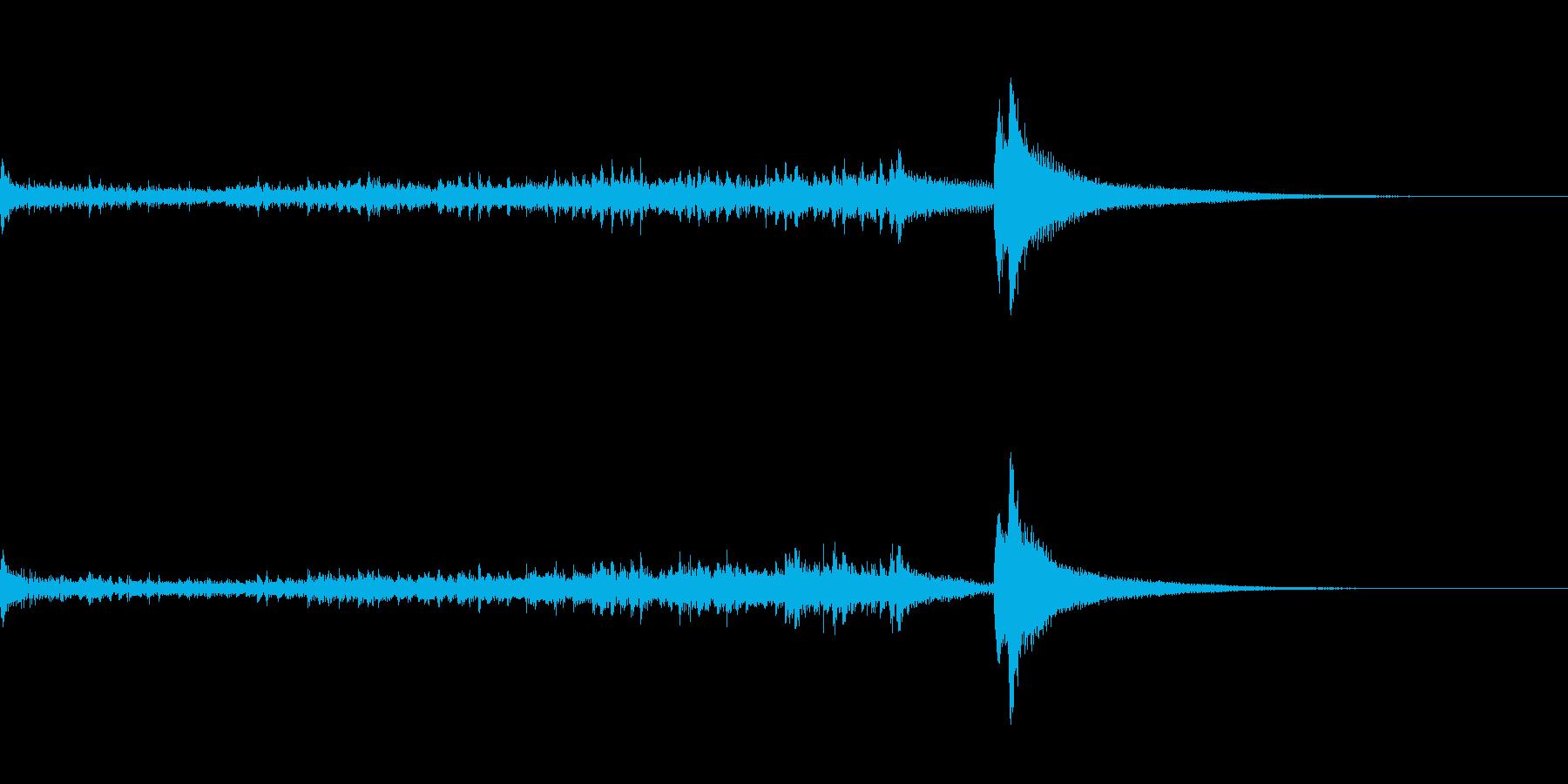 ティンパニーロール長+シンバル☆ドドン1の再生済みの波形