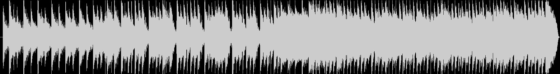 ミドルテンポのブルースっぽい和風ファンクの未再生の波形