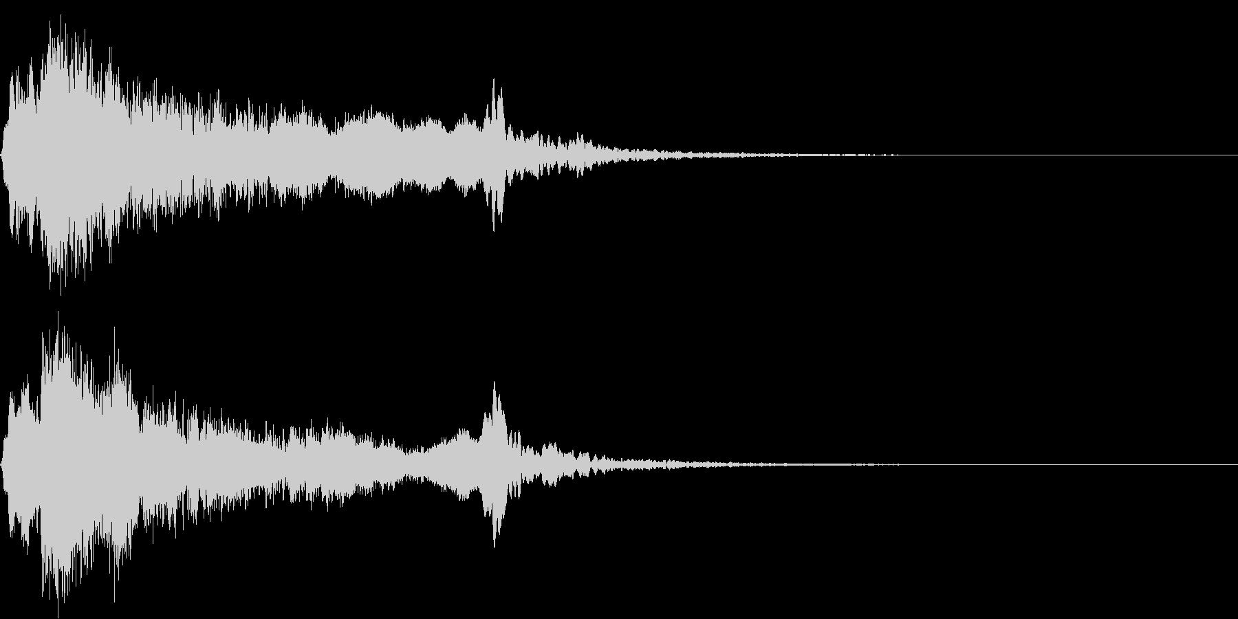 太鼓と尺八のシャキーン和風ロゴ 10の未再生の波形