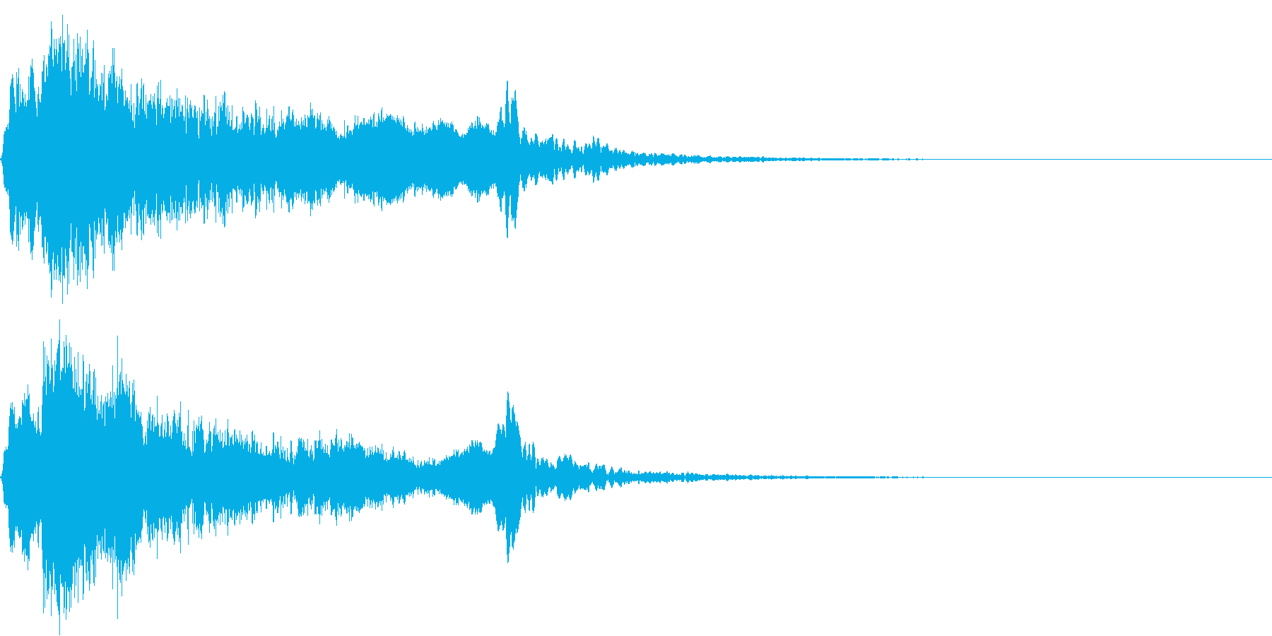 太鼓と尺八のシャキーン和風ロゴ 10の再生済みの波形