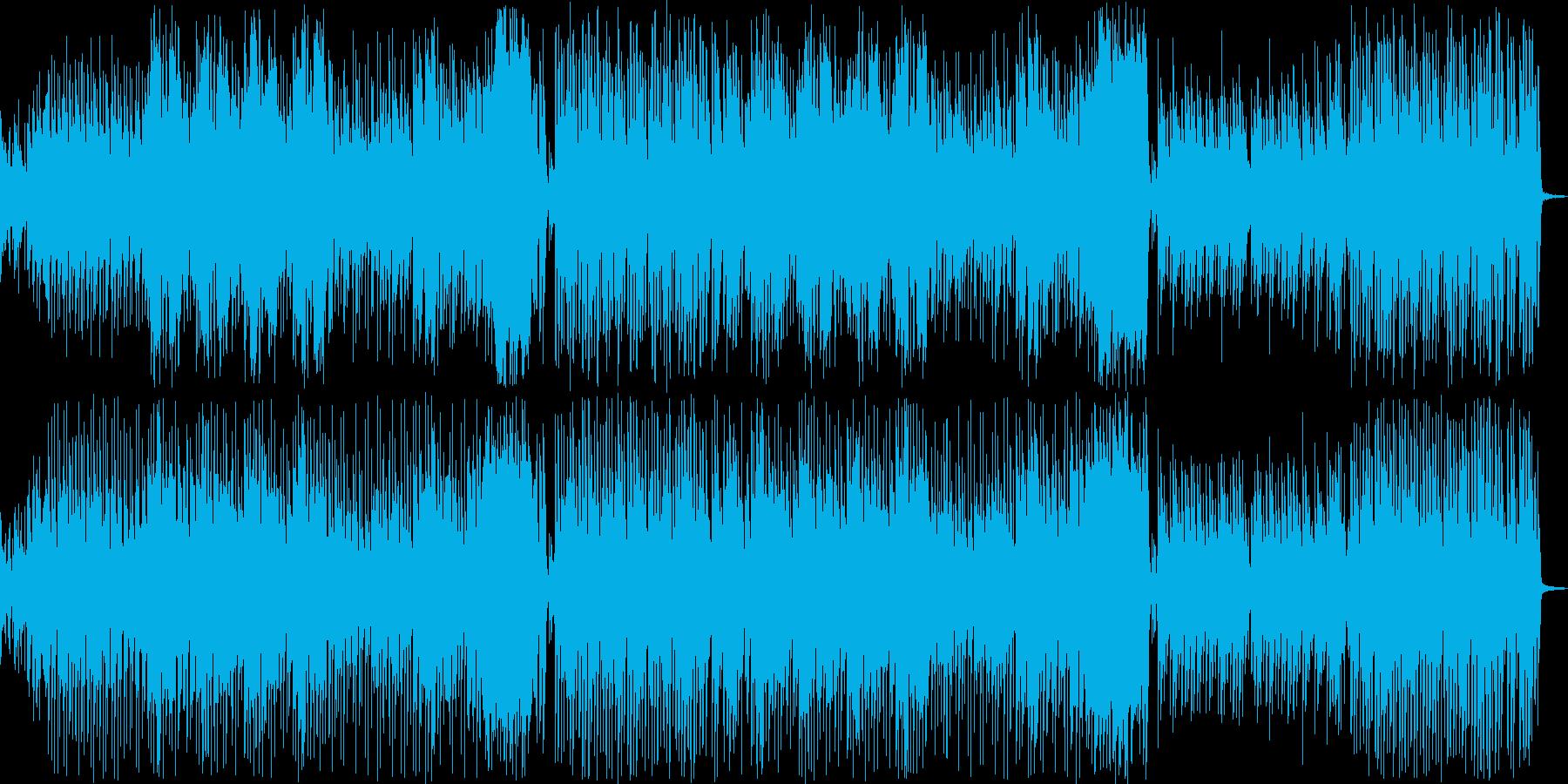 アミューズメントにぴったりな賑やかBGMの再生済みの波形