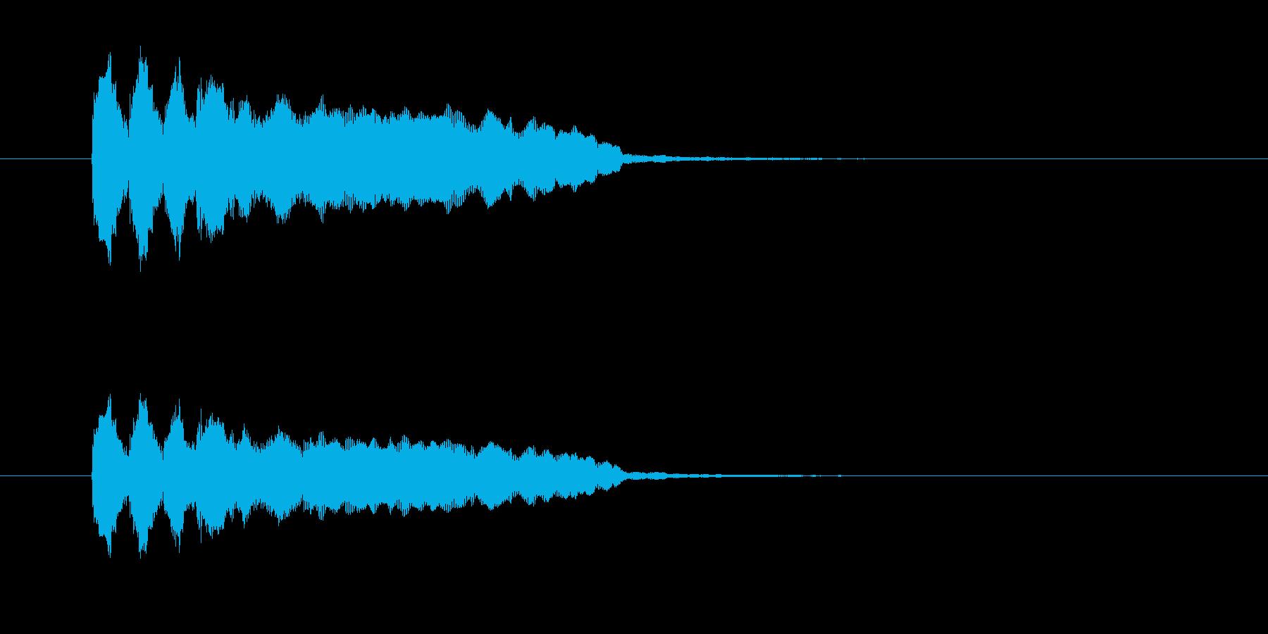 ふぁふぁふぁふぁ(クイズ不正解音)の再生済みの波形