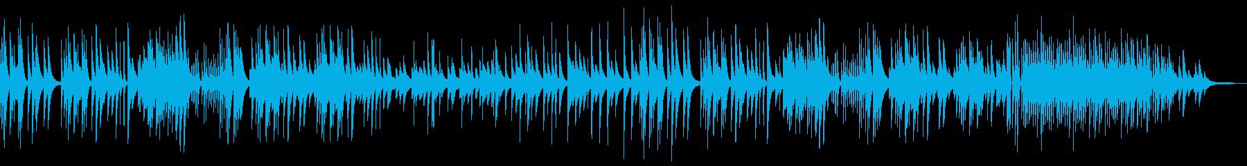 穏やかな寂しさのピアノBGMの再生済みの波形