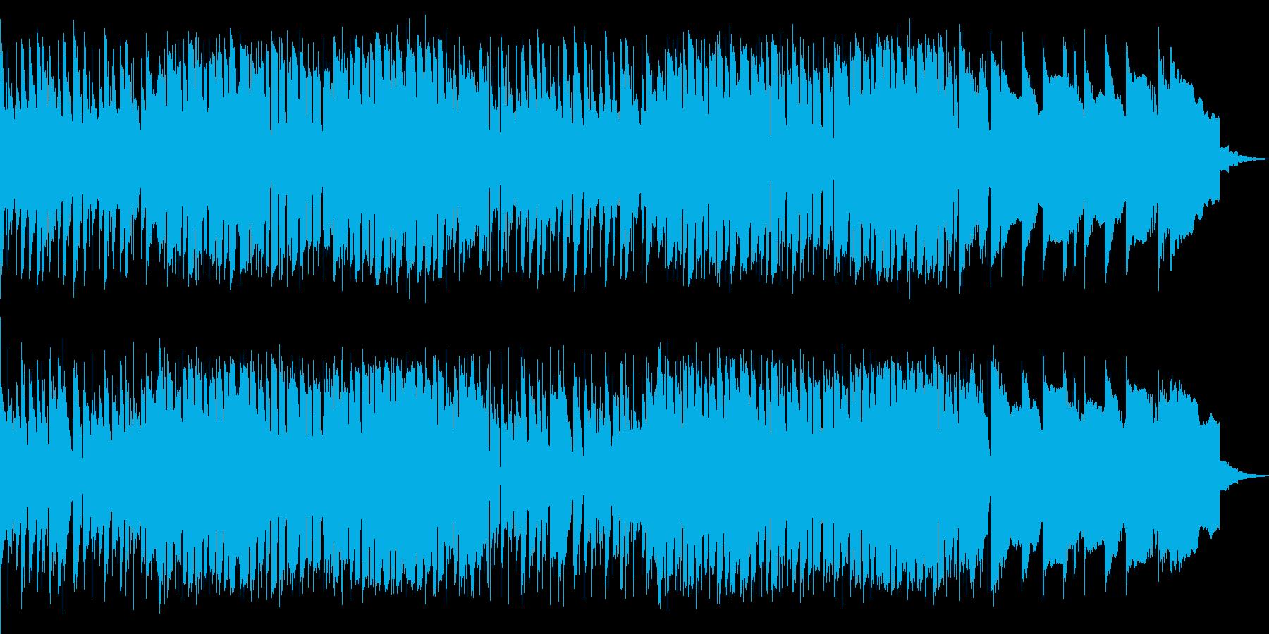 動画の一場面に最適な心地良いBGMの再生済みの波形