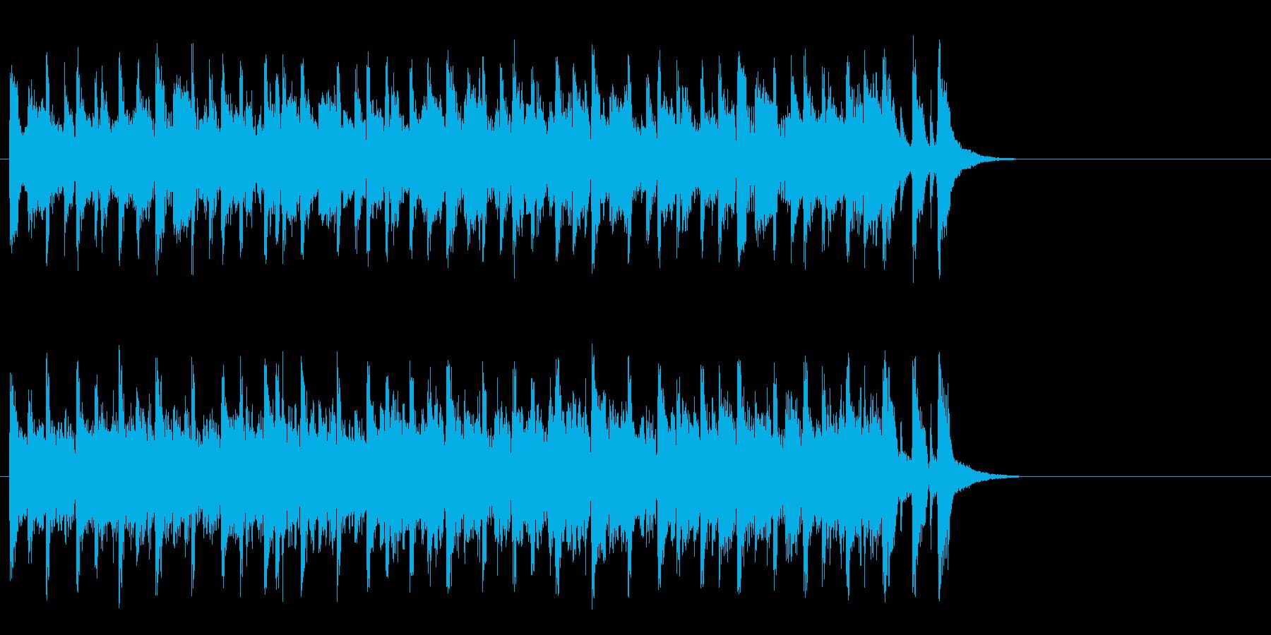 軽やかなフュージョン(イントロ)の再生済みの波形