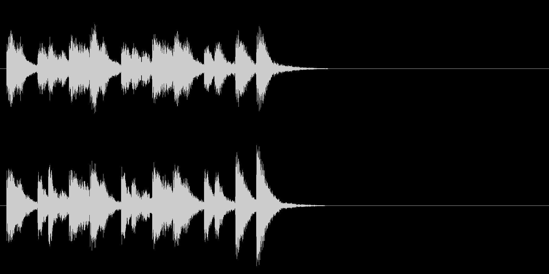 和風 場面転換 ずっこけ エンディングの未再生の波形