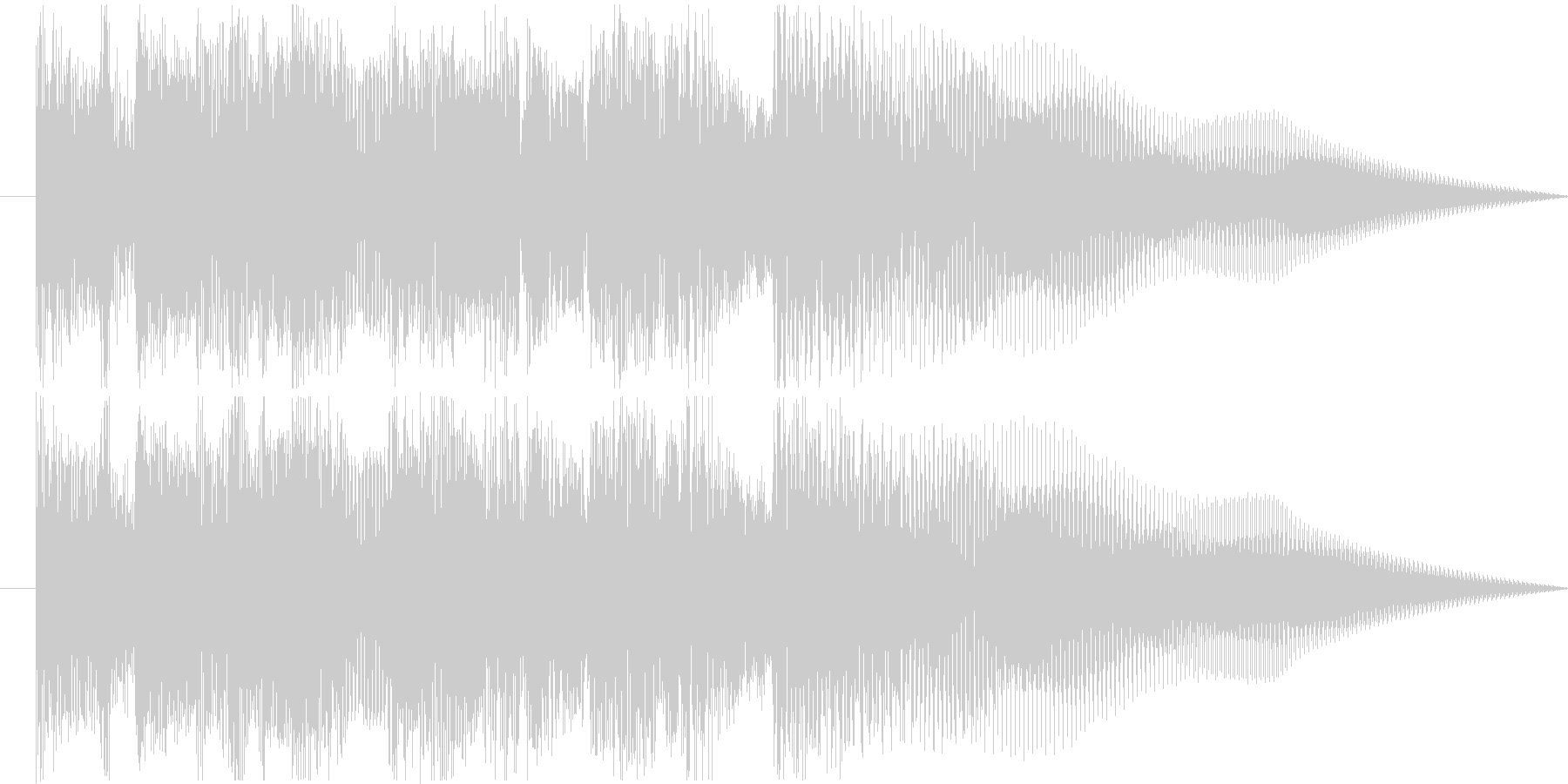 ジャジーなジングル1の未再生の波形