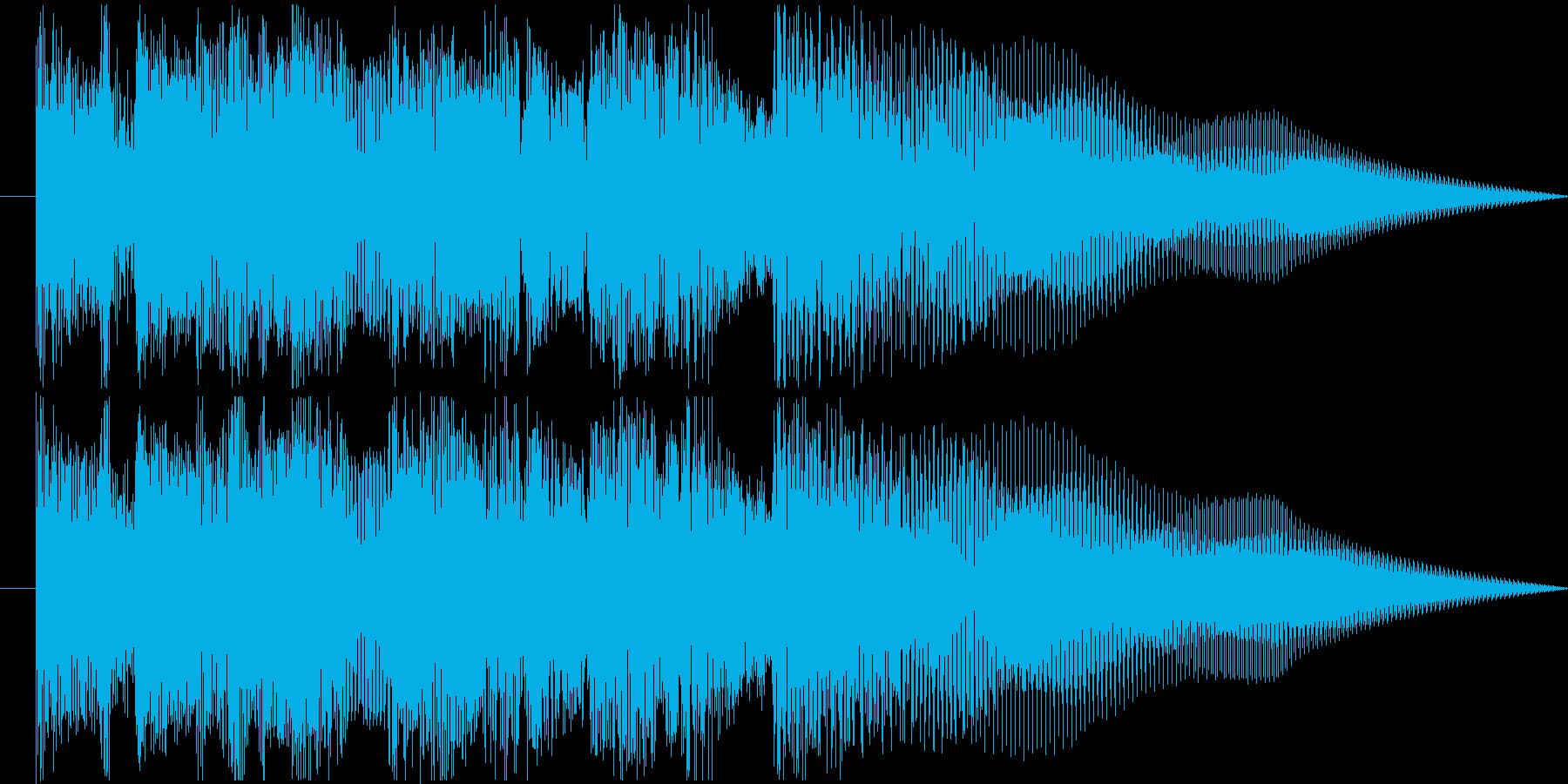 ジャジーなジングル1の再生済みの波形