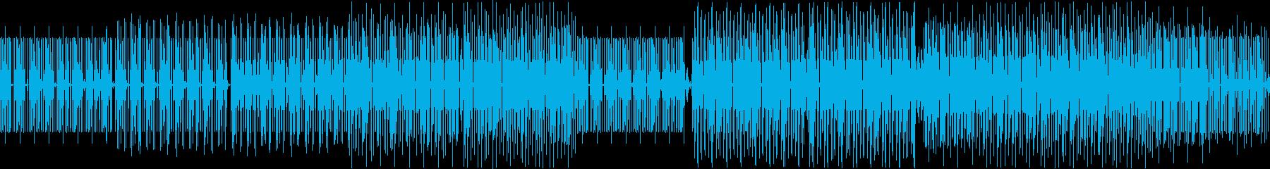 ダークなテクノの再生済みの波形