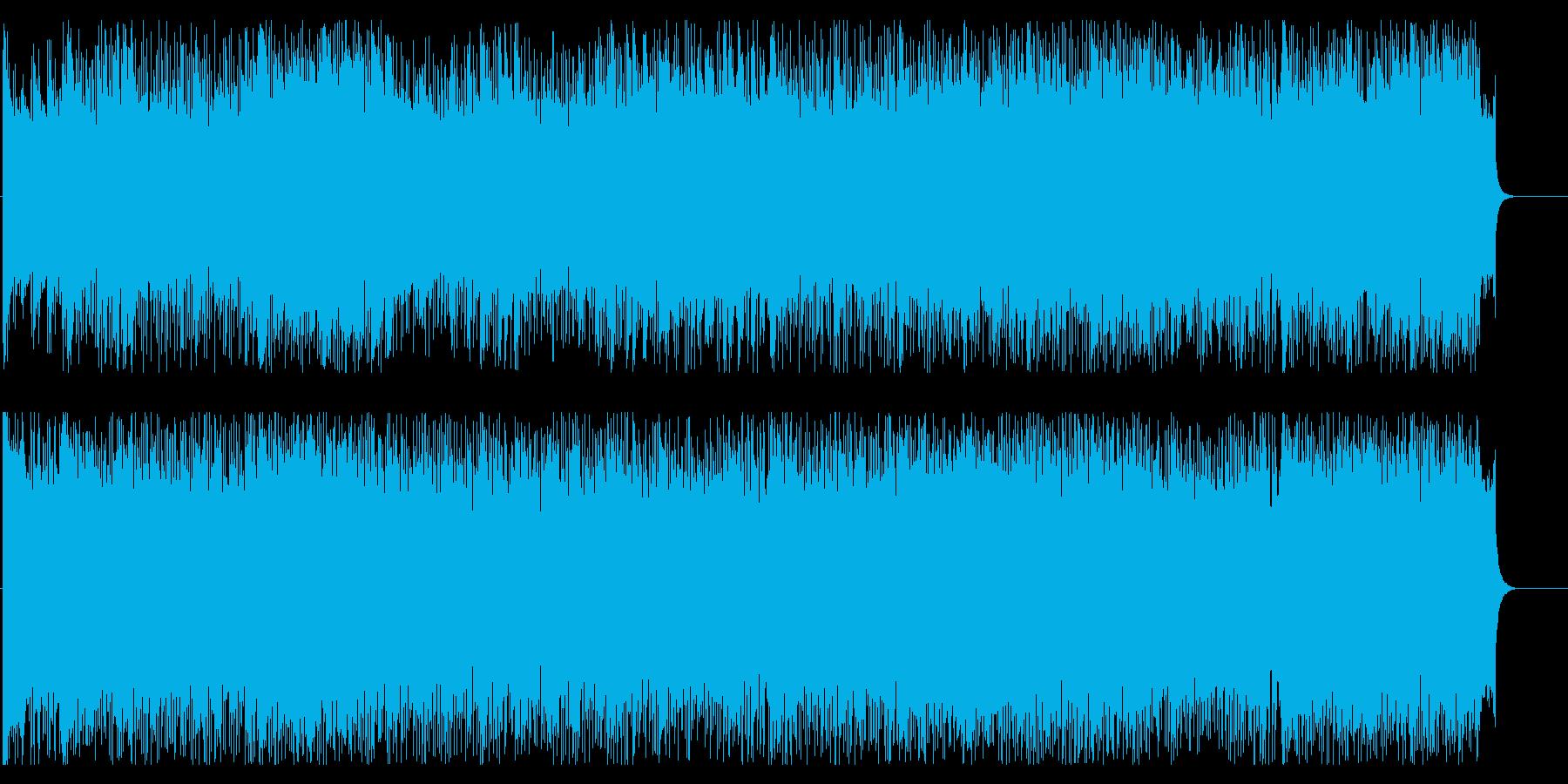 開放的で疾走感のある情報・CM向けBGMの再生済みの波形