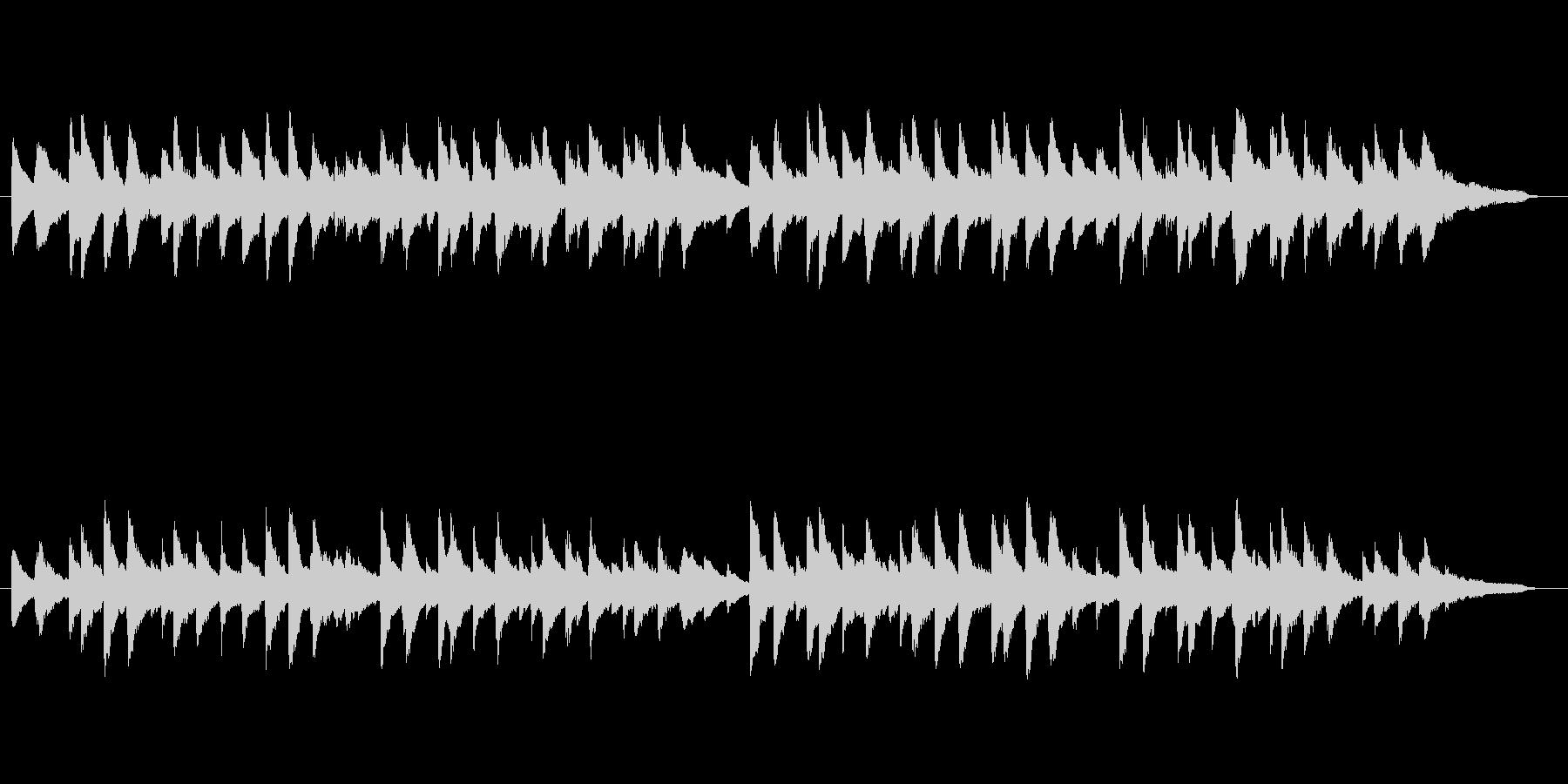 蛍の光 ピアノアレンジの未再生の波形