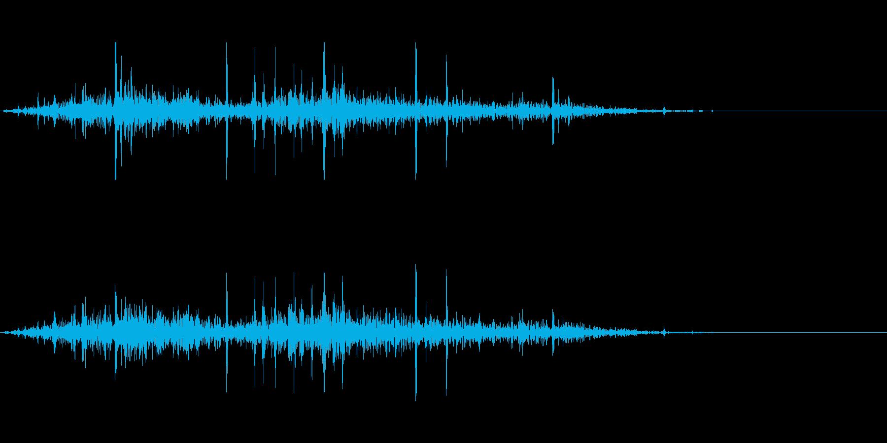 遠方の戦闘音の再生済みの波形