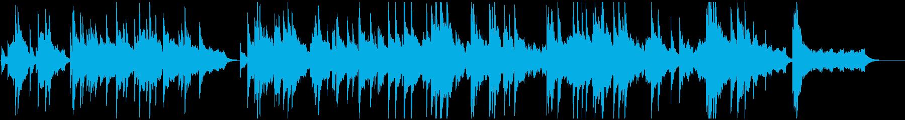 暗い曲調から明るく転調するピアノバラードの再生済みの波形