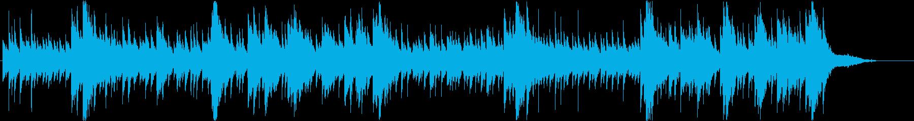 幻想的で民族ヒーリング曲・ガムランの再生済みの波形