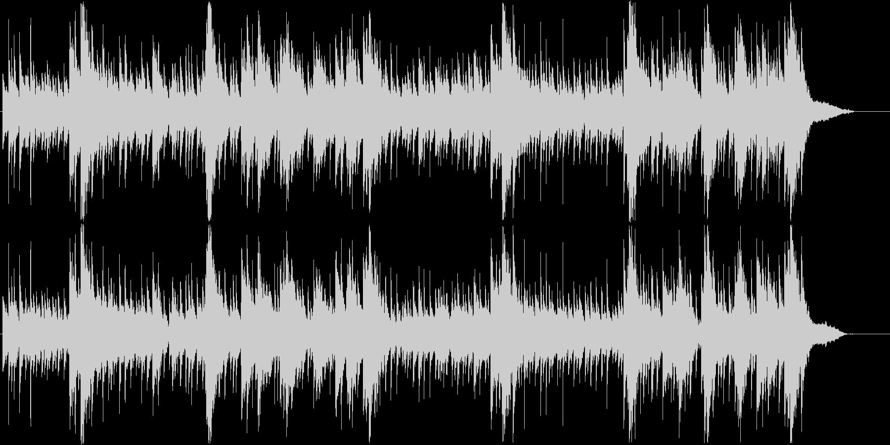 幻想的で民族ヒーリング曲・ガムランの未再生の波形
