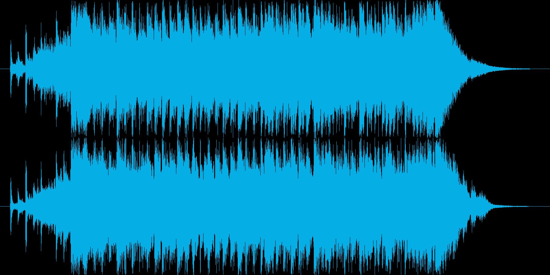 明るい、勢いのある前向きなジングルの再生済みの波形