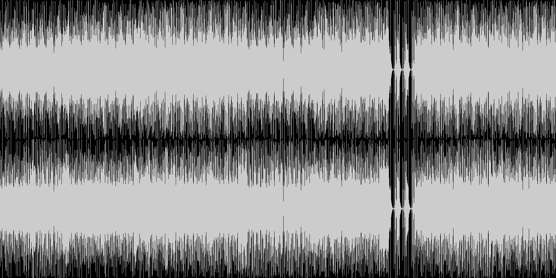 ファンキーなベースとドラムジャズの未再生の波形