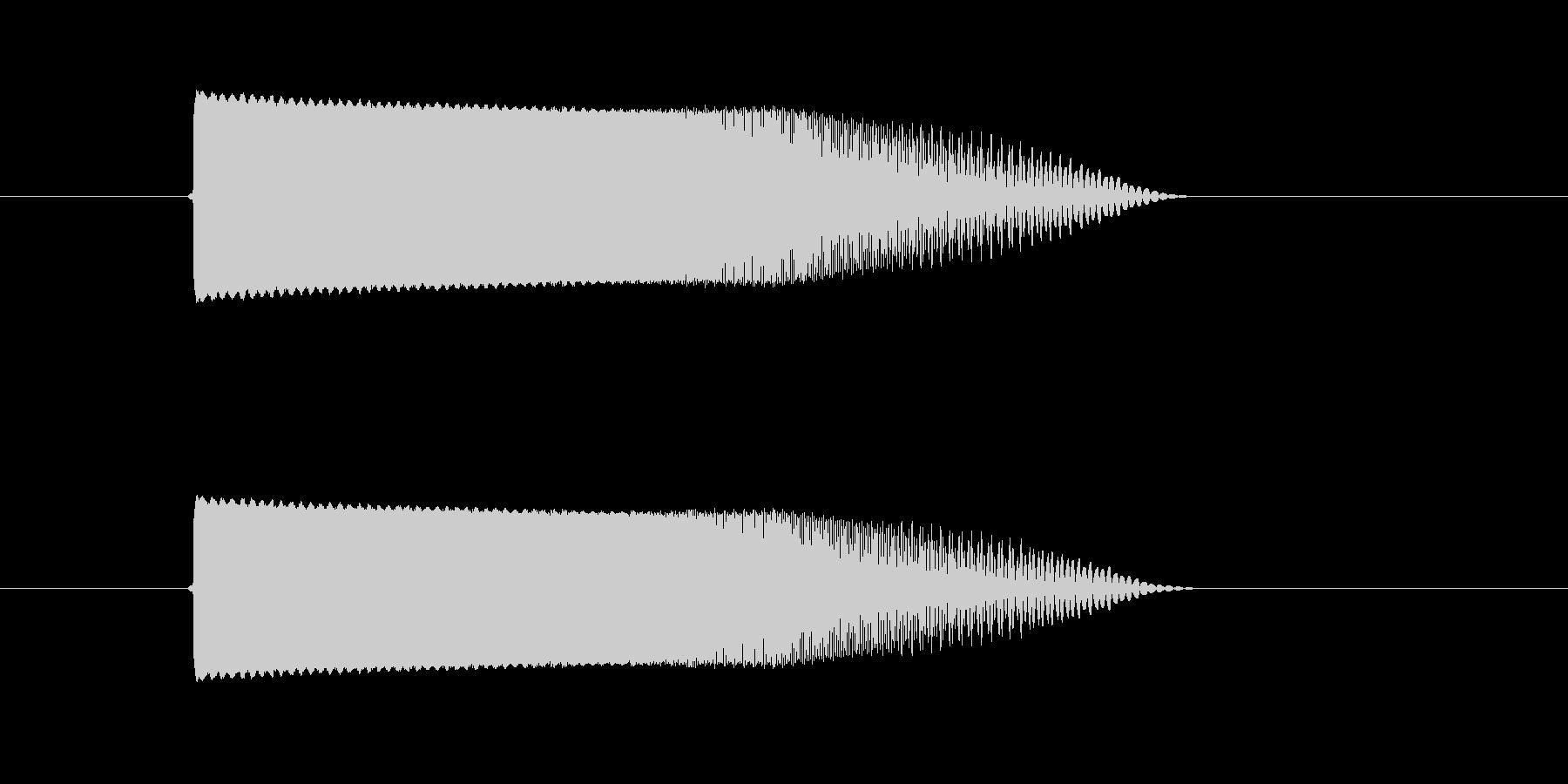 スペースビーム(消)の未再生の波形