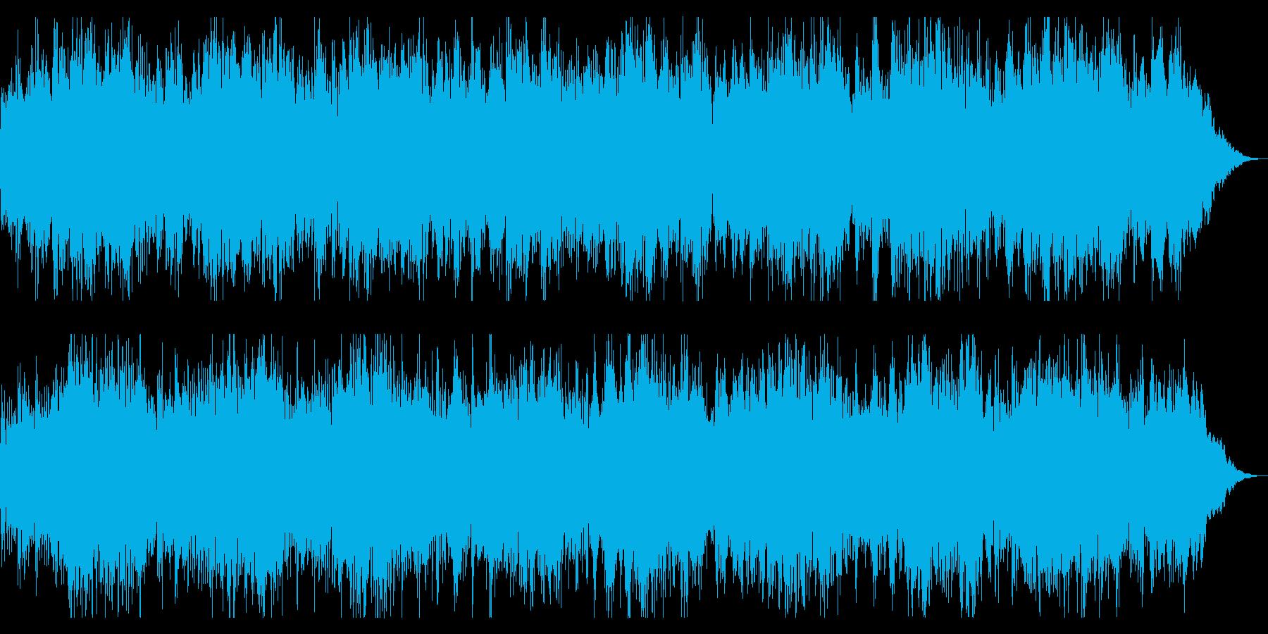 ダークでミステリアスなBGM 恐怖感演出の再生済みの波形