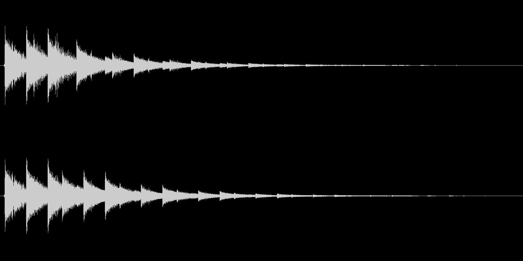 チャララ(決定、電子音)の未再生の波形