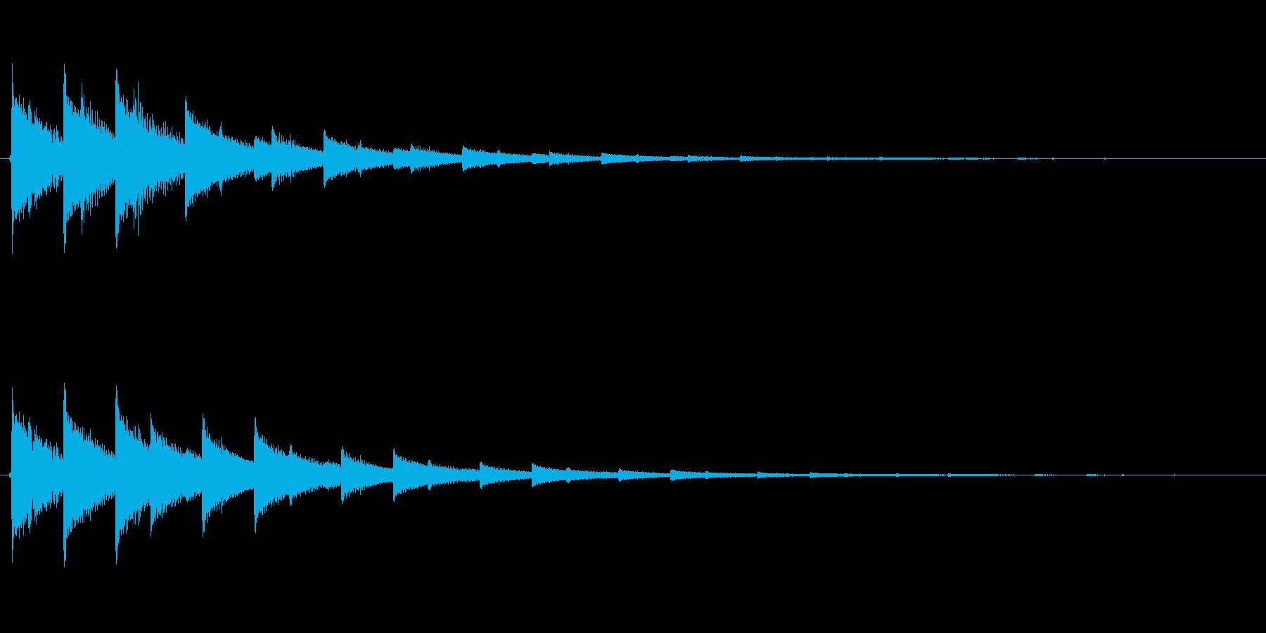 チャララ(決定、電子音)の再生済みの波形