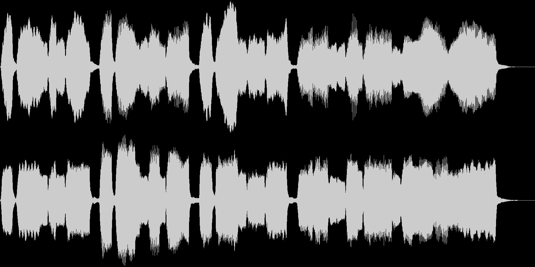 パイプオルガン独奏落ち着いた小曲バッハ風の未再生の波形