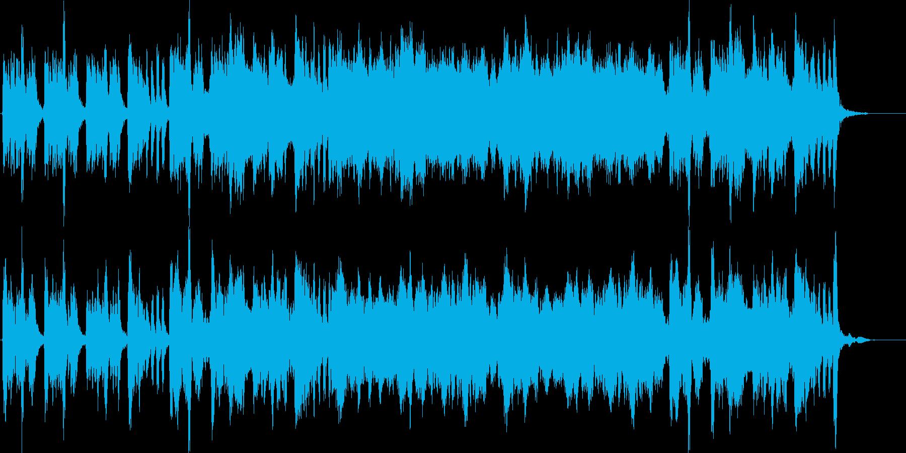 感動的で切ないストリングスBGMの再生済みの波形
