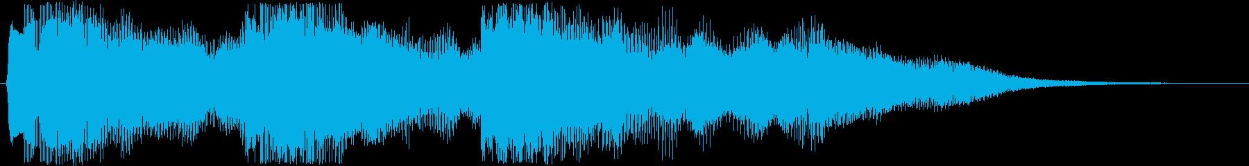 8bitキラキラな場面転換音 転回音の再生済みの波形
