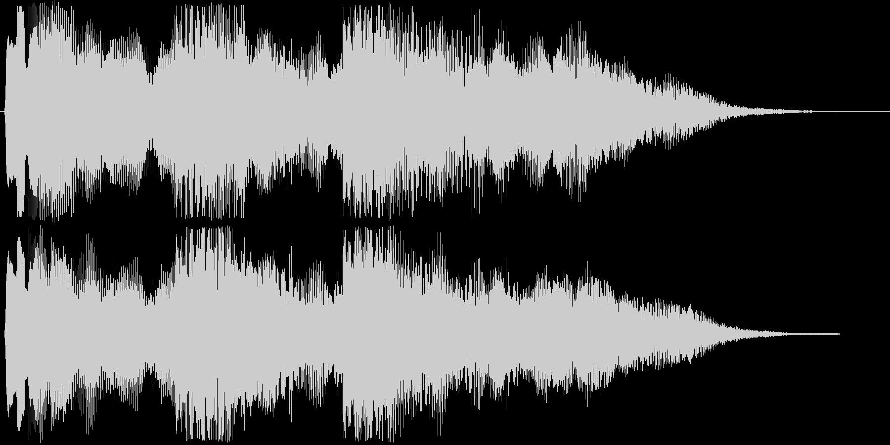 8bitキラキラな場面転換音 転回音の未再生の波形