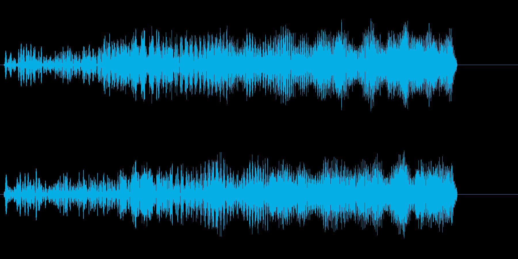 チュワーン(アップ系)の再生済みの波形