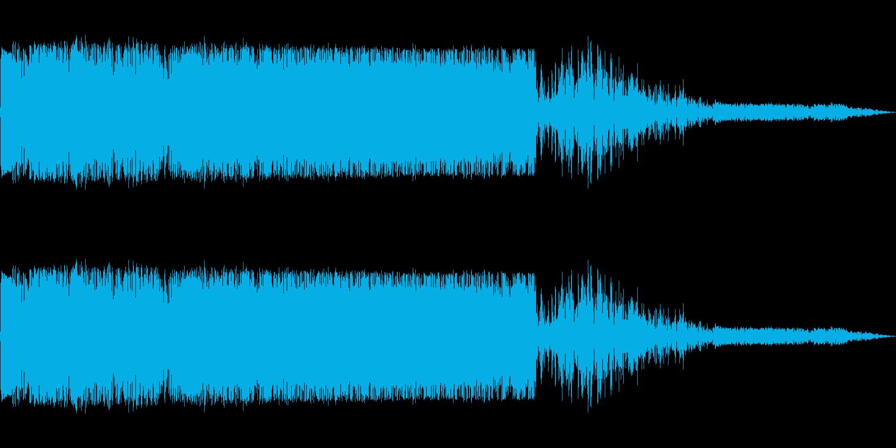 ズシャッ(斬る、斬撃の音)の再生済みの波形