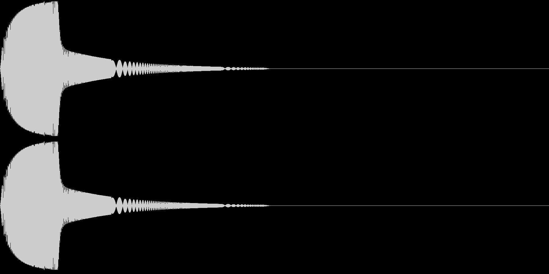 ツンと指先でつつく01の未再生の波形